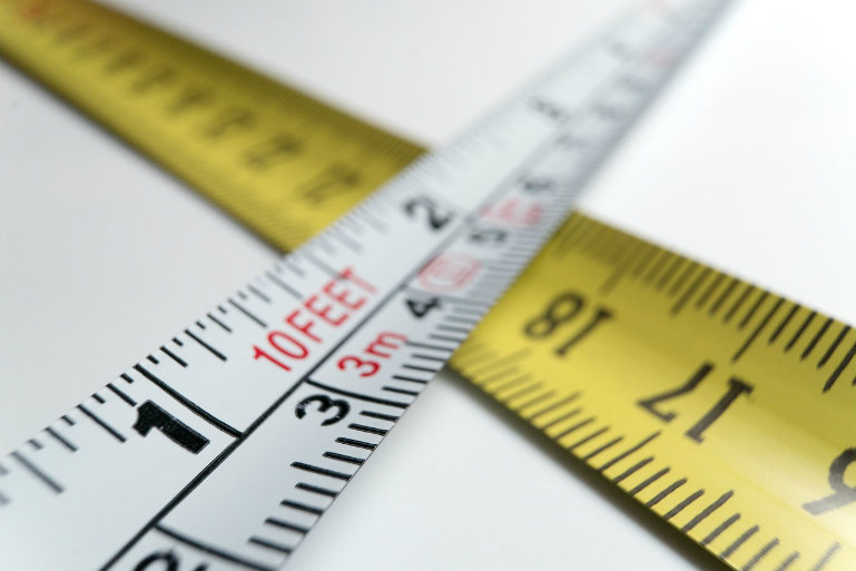 HR metrics - measuring tape
